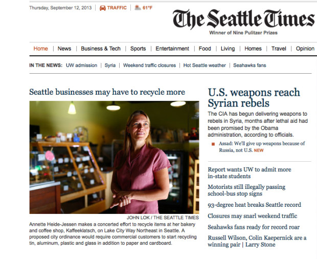 The Seattle Times on Thursday