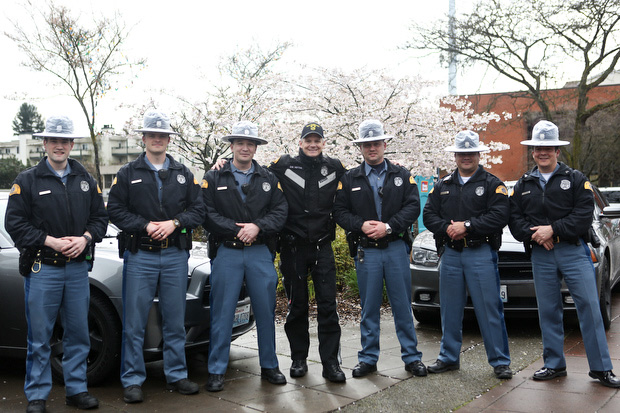 Washington State Patrol Troopers pose for a photo at the event. (LCL photo)