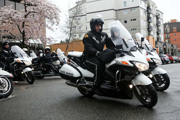 Washington State Patrol troopers and Seattle Police officers begin enhanced traffic enforcement. (LCL photo)