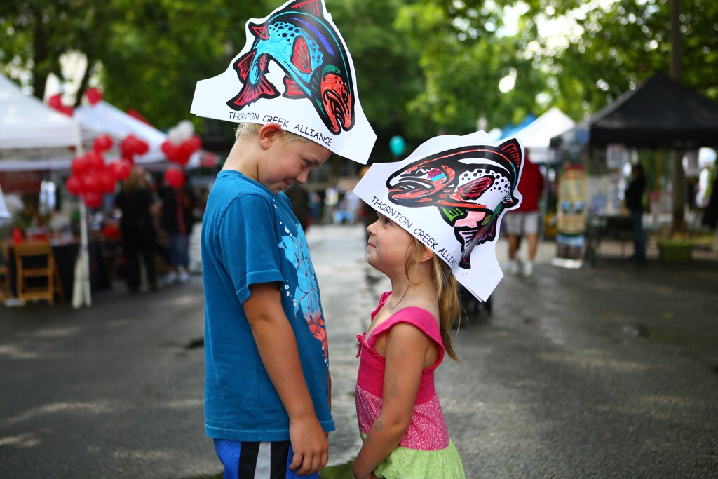 Brayden and Payten at SalmonFest Seattle