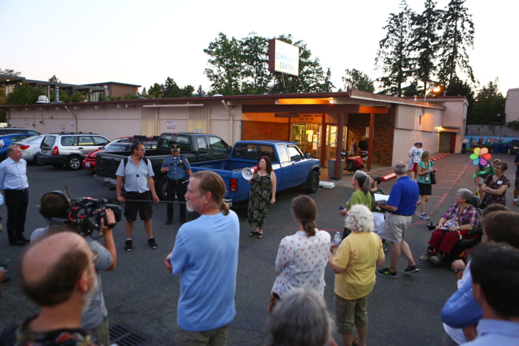 People gather at the Lake City Community Center during the walk. (LCL photo)